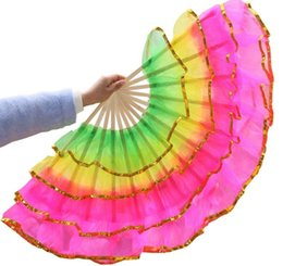 belly dancing decorations Coupons - Four Layers Dance Fan Hand Fans Dancing Props Wedding Party Gift Decoration Belly Dance Performance Gift SN3234