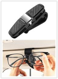Gafas de sol con clip gratis online-Free Shipping NEW 360° Car Auto Sun Visor Glasses Sunglasses Card Ticket Holder Clip Universal Black