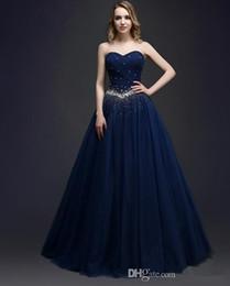 2019 sexy rote rückenfreie seiten kleider Perlen Schatz Tüll Prom Kleider 2019 Marineblau Lange Ballkleider Bodenlangen Abendkleid Vestidos