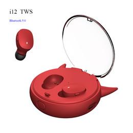 coque iphone oreille Promotion Écouteurs sans fil i12 TWS Bluetooth 5.0 Écouteurs intra-auriculaires Casque à réduction de bruit stéréo Casque sans fil avec casque