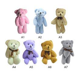 56ae6026bcc 13cm Plush Stuffed Toy Joint Cartoon Bear Bouquet Packaging Material Joint  Mini Teddy Bear For Diy Wedding Home Decor