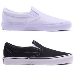 кевин дюрант обувь низкий срез Скидка Черный и белый классический холст обувь Мужская обувь скольжения на ленивый обуви женская обувь любителей доска Спорт на открытом воздухе