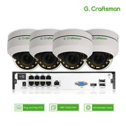 2019 caméra zoom optique ptz 4ch 5MP POE PTZ Kit Système H.265 CCTV Sécurité 8ch NVR Intérieur Étanche 2.8-12mm 4X Zoom Optique Caméra IP Surveillance Vidéo caméra zoom optique ptz pas cher