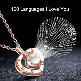 d1a3b3a5ed385 100 Languages I Love You Necklace for Women I Love You Necklace Memory  Projectors Necklace Valentine Best Gift 200pcs