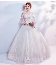 991090ba3 Xianqi pétalo aire sensación cuerno manga mediados de cintura peng peng  falda versión coreana del nuevo vestido de novia de manga larga bordado de  verano