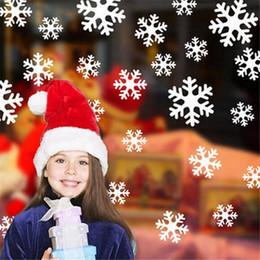 Lenzuola di natale online-27Pcs / sheet Christmas Snowflake Window Sticker Winter Wall Stickers Camera dei bambini Decorazioni natalizie per la casa Anno nuovo adesivi