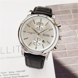 Горячие продажи BOSS часы Повседневная кварцевые мужские часы DZ7333 Кожаный ремень Три глаза и шесть игл обычных моделей Бесплатная доставка от