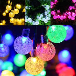 Chaîne d'ampoule d'extérieur en Ligne-Énergie solaire LED guirlande lumineuse 30 ampoules guirlande lumineuse camping éclairage extérieur décoration de fête de jardin de noël