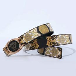 toyota wheel sticker Rebajas 166VERSACENuevo de alta calidad correas de los hombres de marca de moda para hombre de los diseñadores Cinturones genuino Cinturón de Oro Plata pretina de la hebilla D32F