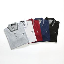 2020 polo design Polo de xxl européen des hommes de la mode d'étéLV luxe décontracté cotons t-shirt couple de design hip-hops broderie polo polo design pas cher