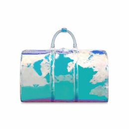 Мода и качество 2019 Высокое качество дизайнер сумка для путешествий мужчины сумки keepall кожаная сумка вещевой мешок размер 50 * 23 * 29 Бесплатная доставка EMS от
