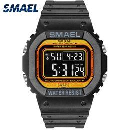 2019 мужские спортивные цифровые светодиодные часы SMAEL спортивные часы из светодиодов цифровой спортивные мужские часы Водонепроницаемые цифровые часы 1801 мужской часы relogios Masculino часы дешево мужские спортивные цифровые светодиодные часы