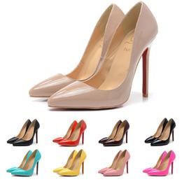 2019 tacones altos de estampado leopardo blanco Envío gratis 2019 Red Bottom High Heels Ladies Shoes mujeres Kate 12 cm charol Negro tacones Nude Pigalle mujeres bombas