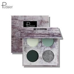 Pudaier splash-ink paysage quatre couleurs fard à paupières plaque mat imperméable anti-transpiration ombre à paupières beauté maquillage palette fard à paupières ? partir de fabricateur