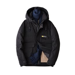 1035c11f234 Men s Winter Coat 2019 New Short Down Cotton Jacket Plus Large Size Youth  Cotton Jacket Parkas Puffer White Black Coats affordable puffer down jackets