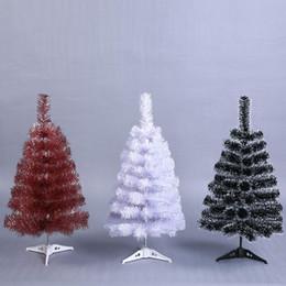 Pequenas decorações plásticas de árvore de natal on-line-Árvore de Natal pequena árvore de Natal artificial Mini 60cm Ano Novo Início Ornamentos desktop Detalhes no White Christmas plástico