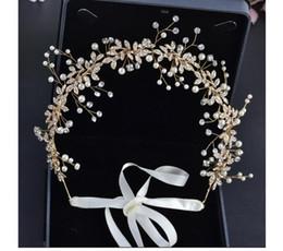Украшения для невесты Золотые бриллиантовые головные уборы для волос в Европе и Америке Брачная тарелка и оптовая продажа косметических украшений для волос от