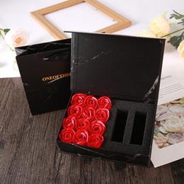 trompeta digital Rebajas Favor de partido decoraciones de la boda Día de jabón perfumado cuerpo de la caja 16pcs Rose pétalo de la flor Ramo del regalo del baño regalo para San Valentín