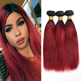Dressmaker 1B / Bug Siyah-Kırmızı Bordo Düz Saç Demetleri Malezya Virgin İnsan Saç Ombre 2 Ton Renk İnsan Saç Uzantıları nereden