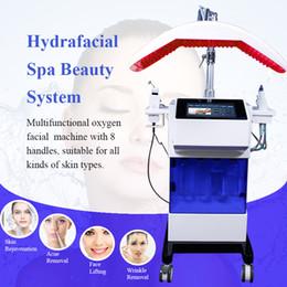 2019 máquinas faciales de oxígeno hydra 8 en 1 Hydra Facial Machine Hydro Micro Dermoabrasión Scrubber ultrasónico Skin Spray de oxígeno Hydrafacial Machine máquinas faciales de oxígeno hydra baratos