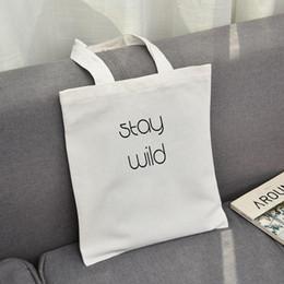 Модные мужские сумки онлайн-Письмо печати Мода Повседневная Женщины пакет Elegant холщовый мешок японский Литературные мешки плеча Kpop Покупки Tote Девушки Простые
