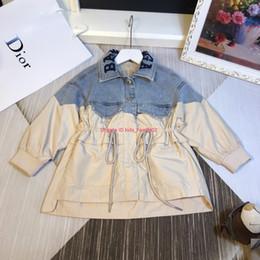 Kızlar rüzgarlık çocuklar tasarımcı giyim sonbahar yeni bel tasarım rüzgarlık ceket denim dikiş tasarım nakış ceket nereden