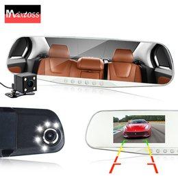 batteria dvr auto Sconti auto a doppia lente dvr specchietto retrovisore auto dvr registratore videoregistratore full hd1080p videocamera per auto dash cam videocamera videocamera per visione notturna auto dvr