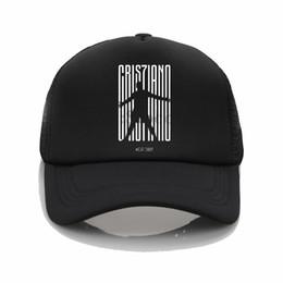 2019 paar mütze für den sommer CR7 JUVE Logo Druck Hüte Sommer Mesh Sun Caps CR7 JUVE Muster Druck Baseball Hüte Paar Mode Hip Hop Hut günstig paar mütze für den sommer