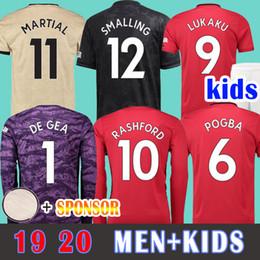 Football Shirts Soccer Jersey Manchester united Camiseta Copa 2019 LUKAKU ALEXIS HOMBRE RASHFORD Camiseta de fútbol 18 19 POGBA MARCIAL De Gea UTD MATA MATIC portero desde fabricantes