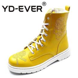 08c85bea8 Outono inverno novos homens Ankle boots Moda Atacante Crânio Charme  high-top Sapatos Casuais Homem Coreano Lazer Martin Botas à venda skull  boots new