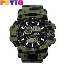 спортивные наручные часы Скидка PHYTO Fashion Casual  Men Watch Digital Plastic Strap High-End Multi-Function 30M Sports Waterproof Electronic Watch reloj