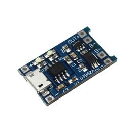 Módulo de litio online-5V Micro USB 1A 18650 TP4056 Tablero de carga de batería de litio con módulo de cargador de protección