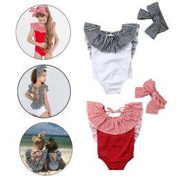 a5ff80a8d4 Toddler Kid Baby Girls Bandage Swimsuit One Piece Ruffles Swimwear Girls  Beachwear Bathing Suit 2019
