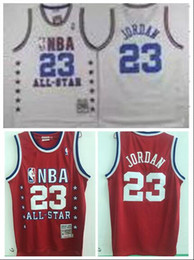 Maillot de basket étoile rouge en Ligne-1989 All Star Game 23 Michael