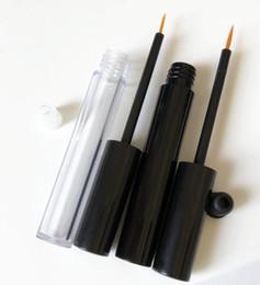 Canada 200pcs / lot 3ML Vide Tube En Plastique Clair Eyeliner, Beauté Maquillage Cils Croissance Liquide Bouteille Rechargeable SN1683 cheap empty eyeliner bottles Offre