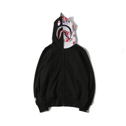 Banderas de alta calidad online-BAPE para hombre sudaderas de diseño 19SS Hombres Mujeres chaqueta del diseñador Bape alta calidad del Mens Casual británica camiseta de la bandera de impresión
