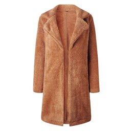 Nueva personalidad Tendencia Ocio Otoño e invierno Moda solapa bolsillo manga larga blusa chaqueta larga 100215 desde fabricantes