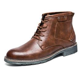 Abgerieben Retro Herren Cowboystiefel Italian Style Knöchel Kleid aus Leder Stiefel High Top Oxford Einzigartige Rivet Herren Schuhe