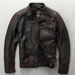 кожаный коричневый жакет стиль для мужчины Скидка Мужская модная облегающая куртка из натуральной кожи коричневого черного цвета в стиле Дэвида Бакхэма мужская куртка из коровьей кожи
