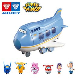 Alas de aviones online-Auldey Super Wings Big Wing Robot Scene Scene Series Set Jimbo Mini Figura Figura Dizzy Astra Boys Girls Chicas Juguetes 07