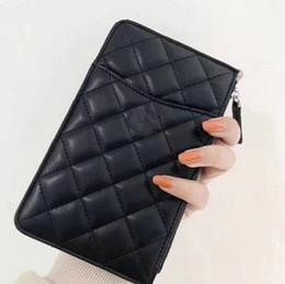 Monete del portafoglio del silicone online-2019 marchio di alta qualità trapuntato pochette donna borse in pelle da donna pacchetto di carta + borsa del telefono mobile + portamonete Portafoglio di moda per donna
