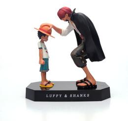 2019 signore squilli cifre One Piece Action Figures Anime Cappello di paglia Luffy Stinchi Ornamenti per capelli rossi Giocattoli per bambole da regalo 17,5 cm Modelli Luffy per bambini Collezione in PVC