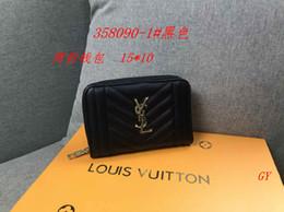 scatola elegante del regalo del regalo Sconti 3A 2019 new Paris style Designer uomo portafoglio uomo famoso portafoglio in pelle speciale multi breve piccolo portafoglio zippy 5A 007