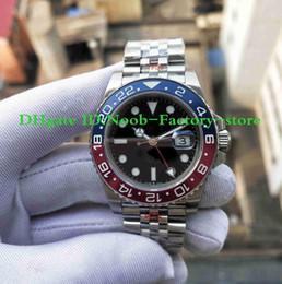 2018 GMF Basel World GMT II 904L 40MM Reloj para hombre Automático ETA 3186 Rojo y Azul Bicolor Cerachrom Bisel 126710BLRO Relojes Caja de plástico desde fabricantes