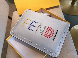 golf wallets Promo Codes - 19SS New Luxurious brand Fend Wallet Clutch Satchel Women Men Mini Handbag packs fashion casual street outdoor Bags