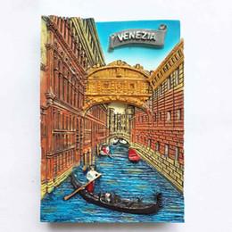 Paesaggio domestico di campagna online-Lychee Life 3D Italy Venice Fridge Magnet Paese Paesaggio Frigorifero Magneti Souvenir di viaggio Decorazione della casa
