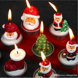 httoy 3pcs Christmas Candles Santa Claus Snowman Party Accessories House Decorations Adults New Year Gifts Toys for Children Grownups da giocattolo anello giroscopio all'ingrosso fornitori