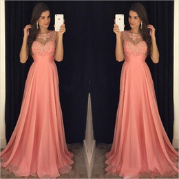 2019 mutterschaft kleid türkis Günstige Plus Size Coral Pink A Line Brautjungfernkleider Chiffon Jewel Neck Lace Appliques Perlen bodenlangen Trauzeugin Braut Party Kleider