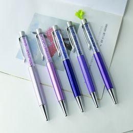 Flat Top Crystal Kugelschreiber Logo Print Promotion Pen anpassen Pen 50 psc / Lot von Fabrikanten