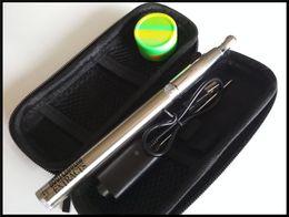 Caneta de fumar do ego on-line-Caneta de fumar caneta frigideira puffco vape caneta evoluir além de bateria 1100 mah ego-c torção ajustável tensão dabber caneta de quartzo bobina aquecedor vaporizador